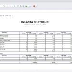 Balanta stocuri cantitativ-valorica