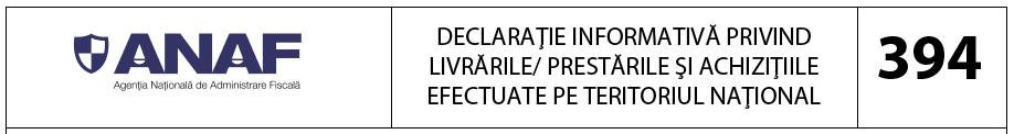 Declaratia 394 ANAF